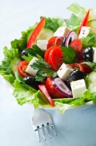 salades grecque végétarienne pour l'été