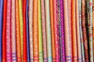 soies colorées chromothérapie