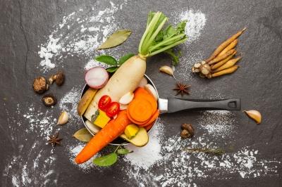repas de fête végétarien ou vegan