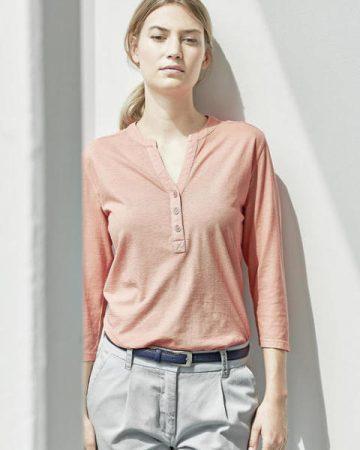 t-shirt femme manches 3/4 en coton biologique et chanvre