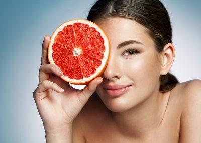 Votre peau et les agrumes
