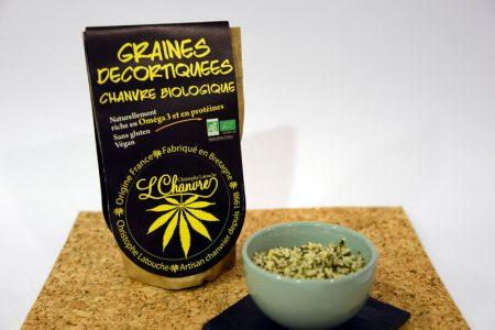 graines décortiquées de chanvre bio