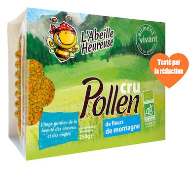 pollen cru de fleurs de montagne bio pour la santé des cheveux