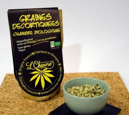 graines décortiquées chanvre