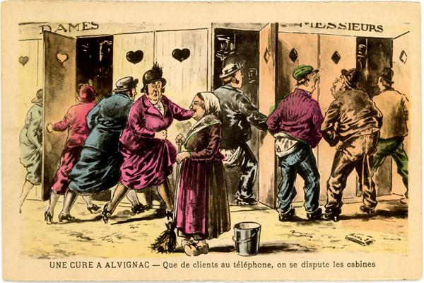 Carte postale cure d'eau Alvina Réponses Bio