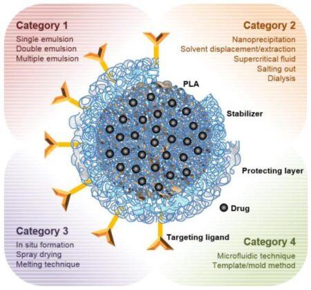 Technique de transport des nanoparticules de PLA par nanoémulsion
